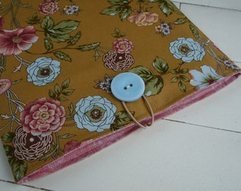 iPad Case - iPad Sleeve -  iPad Cover -  iPad 2 Sleeve - iPad 3 Sleeve - iPad 4 Sleeve - Handmade - Tan Floral