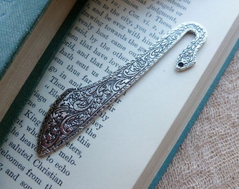 1x Fancy Bookmark, Antique Silver Bookmark P112