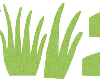 Extra Grass, Wall Decal, Wall Stickers (10 clumps of grass)