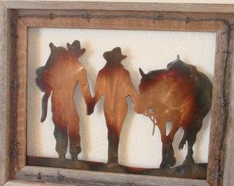 Cowboy & Cowgirl Wall Hanging