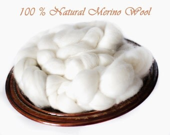 Fine Merino Top Roving Wool Spinning Felting Undyed Fiber 1lb Extremely Soft