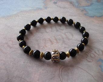 Golden rope pugster bracelet