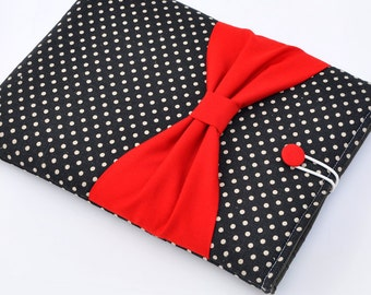 "15"" MacBook Pro Case,Laptop Case,custom 15"" Laptop sleeve,Laptop Cover,15"" Macbook Pro Retina sleeve, PADDED, Bow,With Pocket For Ipad"