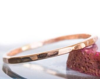 Hammered Rose Gold Ring