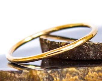 Single Ring Gold Solid 14k Gold Smooth Polished Stack Ring Sz 3 thru 8
