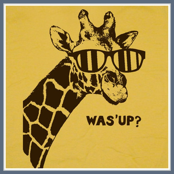 Giraffe Quotes Funny: Giraffe T Shirt Was What's Up Funny Animal Tees By