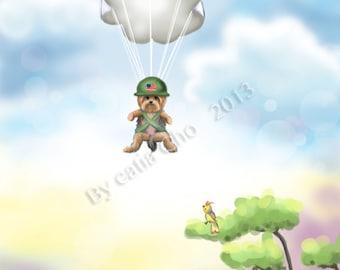 The War Hero- - velvet giclee Fine art print 8x10