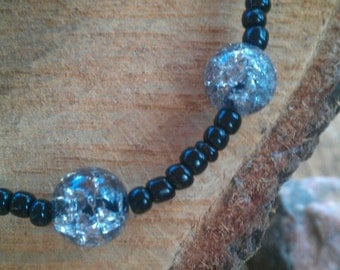 Crystal and Black Necklace