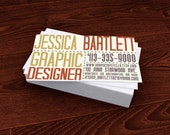 Premade Customized Business Card - typography bold and professional
