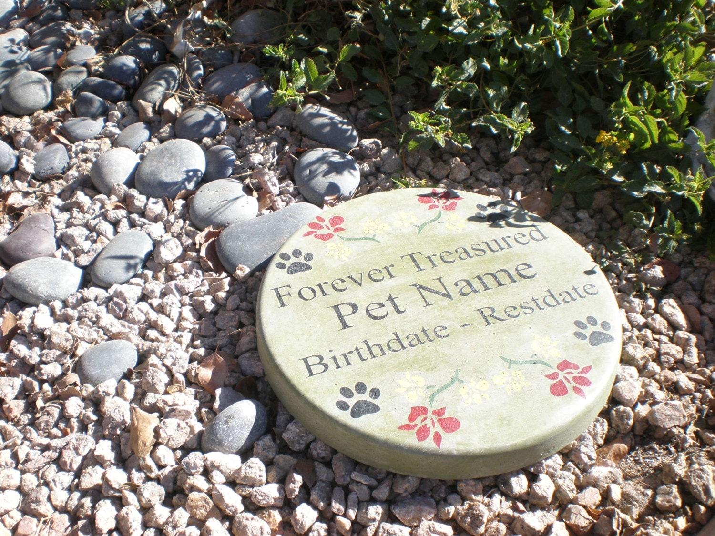 Custom Pet Memorial Stone 11 39 Diameter 39 Forever