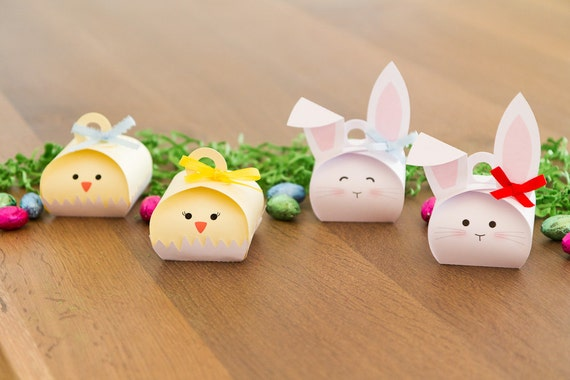 Easter party favor boxes easter wikii easter favor boxes treat boxes bunny and chick set of 8 here are the perfect favors for your easter party egg hunting event or just a treat for the negle Gallery