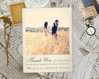 "Wedding Thank You Magnets - JavesHill Vintage Photo Personalized 4.25""x5.5"""