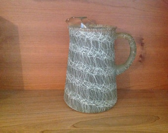 Green Spaghetti Ware Pitcher