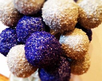 Sugar crystal cake pops