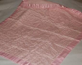 Pink Christening/Baptismal baby quilt