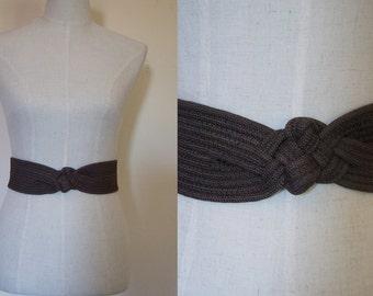 brown belt // vintage knot belt
