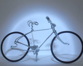 Handmade, Wire Bicycle sculpture. Road bike, cake topper