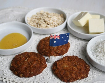"Anzac, ""Australian New Zealand Army Corp""  Cookies (ONE DOZEN)"