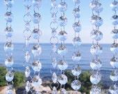 50 Ft. Glass Crystal Glass Garlands Hanging Crystal Strands Wholesale Manzanita Crystals Wishing Tree Crystals Bulk Christmas Garland