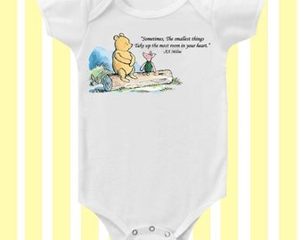 Winnie the Pooh Smallest things Sweet Bodysuit by SimplyBaby