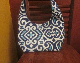 Tote and Wallet - Canvas Geometric