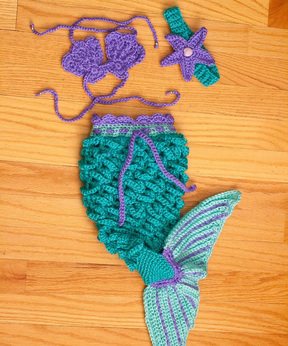 Crochet Baby Mermaid Set