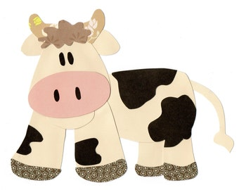 Applique Template Farm Animal Cow