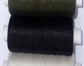 Tudor Style Silk Thread for Renaissance/Elizabethan Reenactment - Black