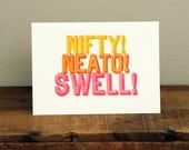 Nifty, Neato, Swell // Stamp Font