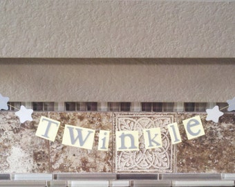 Twinkle Twinkle Little Star Paper Garland Gray And Yellow