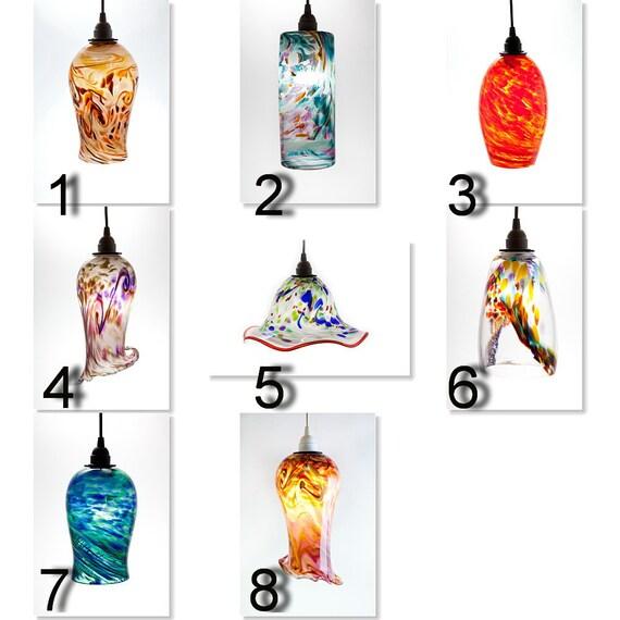 Items Similar To Custom Hand Blown Glass Pendant Light