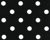 Black/White Polka Dots, Drapery Fabric, Upholstery Fabric, Black/White Dots, Cotton Duck Fabric, Decorative Fabric, Fabric By The Yard