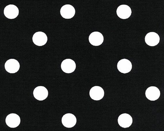 Black White Polka Dots Drapery Fabric Upholstery Fabric