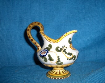 Vintage Faience Italian Raymor bitossi tin glazed ewer