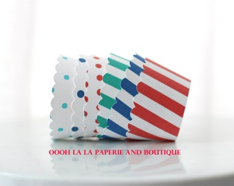 Carnival/Circus Cupcake Wrappers- Set of 12