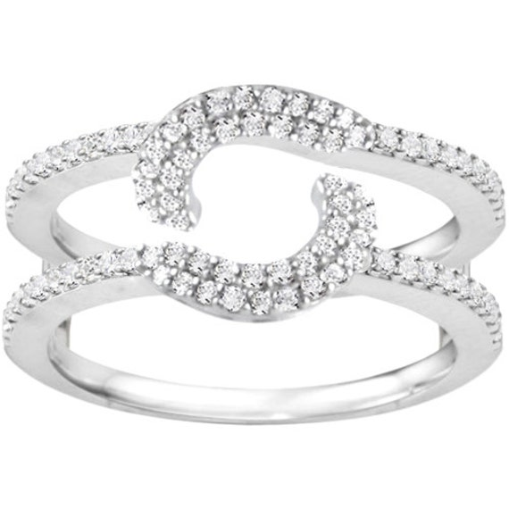 halo wrap ring guard sterling silver ring enhancer with 33ct cubic