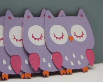 Cricut Owl Die Cut Set of 8