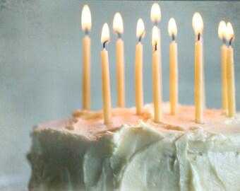 Sweet Pure Beeswax Birthday Candle Hand Dipped (16/pkg)