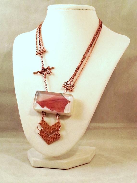 science astronomy mars jewelry necklace