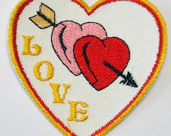 Iron-On Patch - HEART LOVE