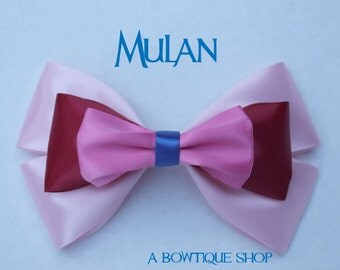 mulan hair bow