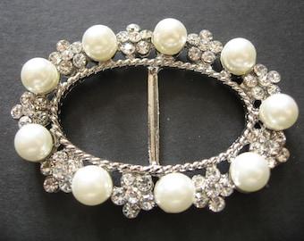 Oval Romantic Shaped Wedding Bridal Swarovski Rhinestone Crystals Buckle Belt Sash Supply