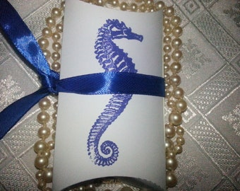 100 PILLOW BOXES  Seahorse Nautical