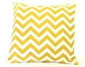 Decorative Throw Pillow 18x18 Yellow Chevron