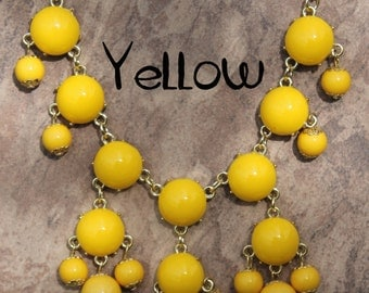 Mini Bubble Necklace, Yellow bubble Necklace, JCrew Bubble Necklace