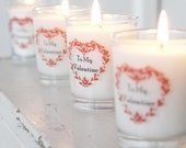 Valentines scented candle votive