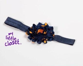 Navy Blue and Orange Headband