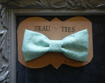 Baby Boy Toddler clip-on bow tie Blue