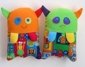 Stuffed Monster Toy Pattern - PDF Sewing Pattern for Plush Monster-Monster Helps Children Show Feelings Washable Cloth Soft Toy - MyFunnyBuddy