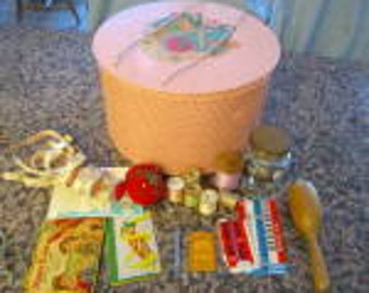 Patented Vintage Princess Sewing Basket